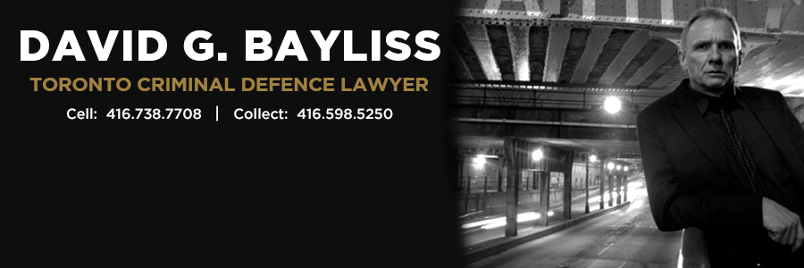 Toronto Criminal Lawyer David G. Bayliss